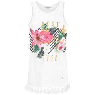 GUESS GuessGirls White Best Vacation Ever Top