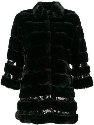 Twin-Set oversized fur coat