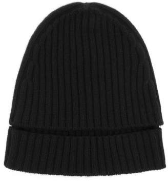 Colville - Ribbed Knit Wool Hat - Womens - Black