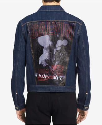 Calvin Klein Jeans Men's Graphic-Print Denim Jacket