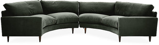 Robin Bruce Oslo Curved Sectional - Forest Velvet
