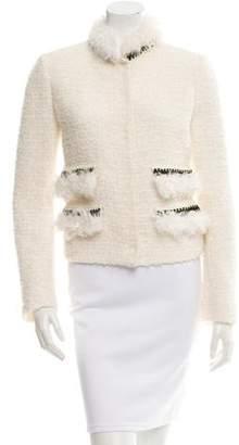 Giambattista Valli Fur-Trimmed Bouclé Jacket w/ Tags