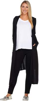 Peace Love World Jersey Knit Hooded Maxi Cardigan