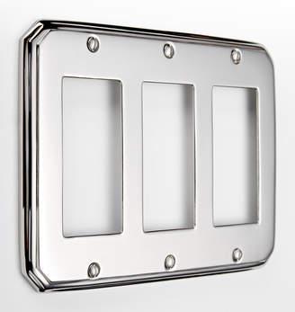Rejuvenation Deco Triple GFCI Switchplate