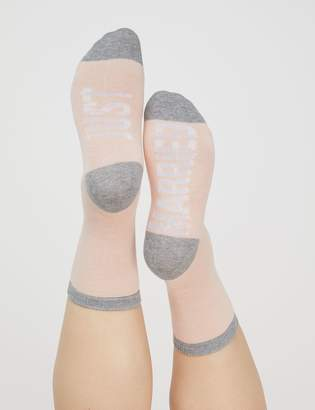 Lane Bryant Just Married Graphic Crew Socks