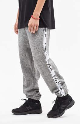 PacSun Warm Up Fleece Side Stripe Grey Pants