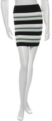 Ronny Kobo Striped Mini Skirt