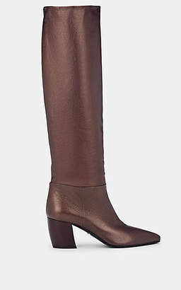 Prada Women's Leather Knee Boots - Cordovan