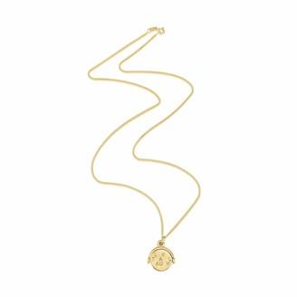 Seychelles Auree Jewellery Yellow Gold Spinning Love Laugh Travel Pendant