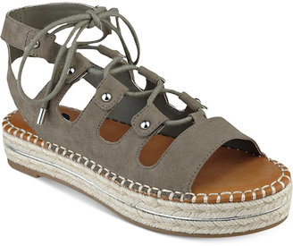 G by Guess Keeny Lace-Up Platform Espadrille Sandals Women's Shoes $59 thestylecure.com