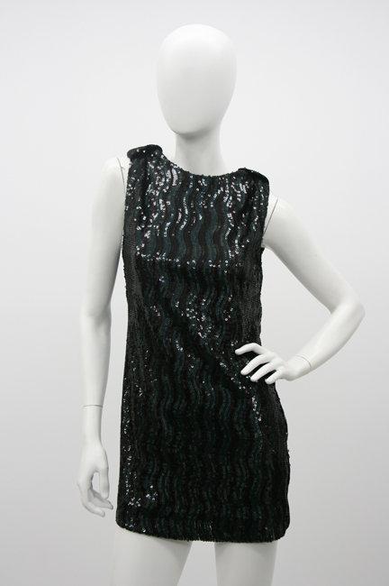 Whitney Eve Sequin Dress in Black