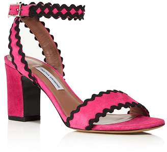 Tabitha Simmons Leticia Suede Ric Rac High Heel Sandals