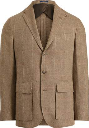 Ralph Lauren Morgan Tick-Weave Suit Jacket