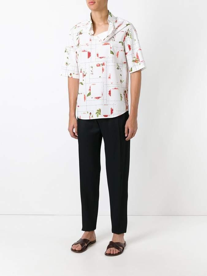 Chalayan strayed neckline T-shirt