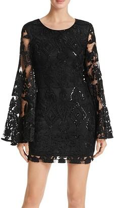 AQUA Sequin Lace Dress $118 thestylecure.com