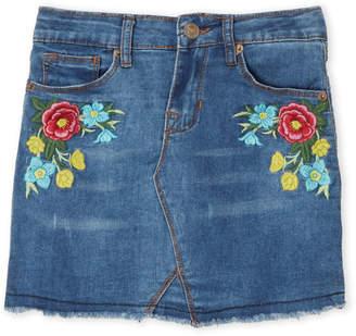 Hudson Girls 7-16) Floral Embroidered Denim Skirt
