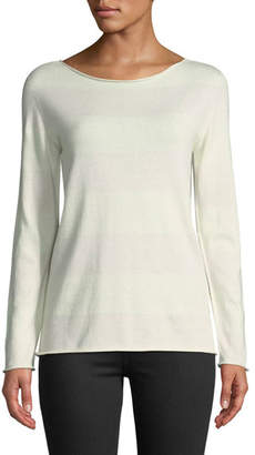 Majestic Cashmere-Blend Bateau-Neck Sweater