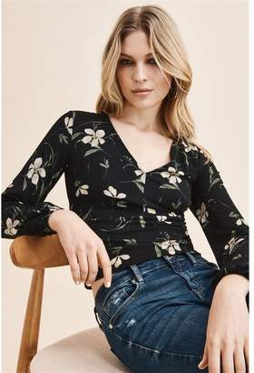 Dynamite V-Neck Top - FINAL SALE Floral
