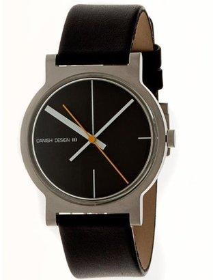 Danish Design (ダニッシュ デザイン) - デンマークデザインiq13q909ブラックダイヤルブラックレザーバンドメンズ腕時計by Martin Larsen