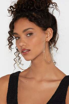 Nasty Gal Hoops-a-Daisy Double Hoop Earrings