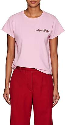 "ADAPTATION Women's ""Angel Baby"" Cotton Crewneck T-Shirt - Pink"