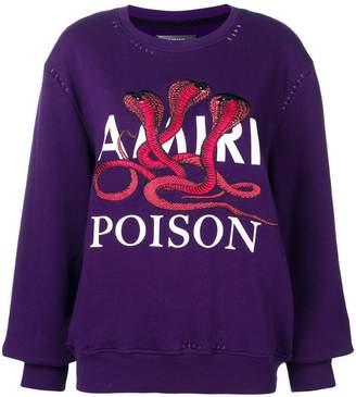 Amiri embroidered sweatshirt
