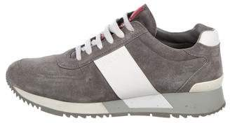Prada Sport Leather-Trimmed Suede Sneakers