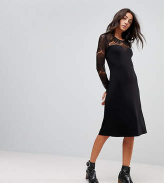 Y.A.S Tall Ciccu Long Lace Sleeved Shift Dress