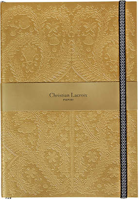 Christian Lacroix Paseo Embossed B5 Notebook - Gold