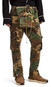 RHUDE Men's Camouflage Cotton Twill Cargo Pants - Grn. Pat.