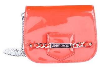 Jimmy Choo Patent Leahter Chain-Link Crossbody Bag