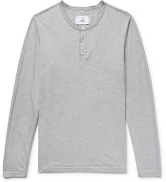 Reigning Champ Mélange Ring-Spun Cotton-Jersey Henley T-Shirt