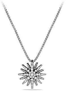 David Yurman Women's Starburst Small Pendant with Diamonds on Chain