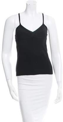Saint Laurent Wool & Silk-Blend Sleeveless Top w/ Tags