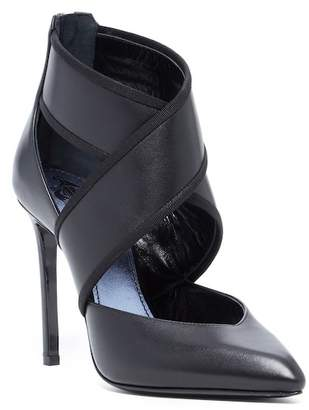 Lanvin Crossover Pointed Toe High Heel Pump