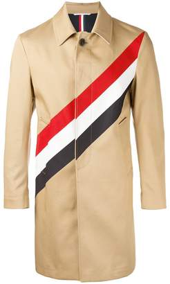 Thom Browne diagonal stripe coat