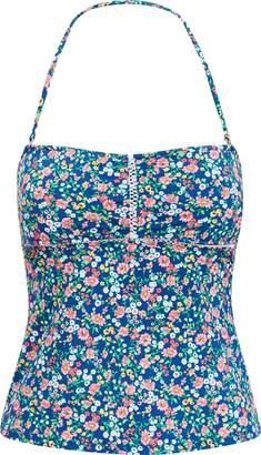 Ralph Lauren Floral Strapless Tankini Top