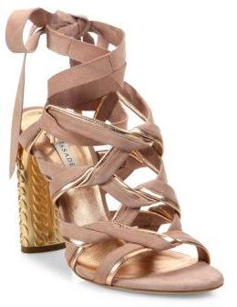 Casadei Block Heel Leather Sandals $890 thestylecure.com