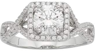 Swarovski Generic 2 1/2 Carat T.W Crystal Square Frame Sterling Silver engagement ring