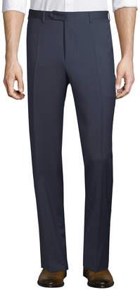Canali Wool Straight Leg Trouser
