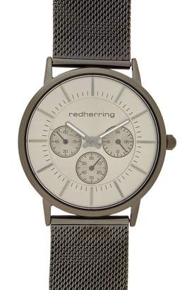 Red Herring Men's Dark Grey Mock Multi-Dial Watch