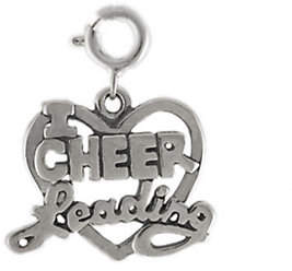 QVC Sterling I Love Cheerleading Heart Charm