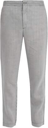 120% Lino 120 LINO Slim-leg striped linen trousers