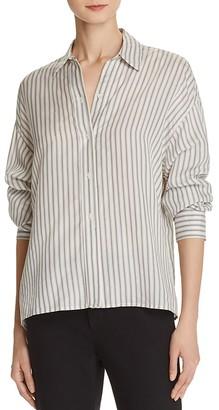 Vince Menswear Stripe Silk Shirt $345 thestylecure.com