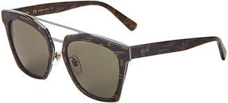 MCM 649S Marbled & Silver-Tone Square Sunglasses
