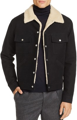 Sandro Shearling Jacket - 100% Exclusive $545 thestylecure.com
