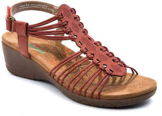 Women's Haydin Wedge Sandal -Red $69 thestylecure.com
