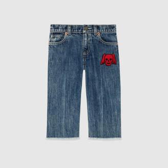 Gucci Children's denim pant with skull