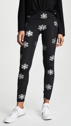 Terez Silver Snowflake Foil Tall Band Leggings
