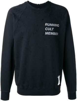 Satisfy statement print sweatshirt